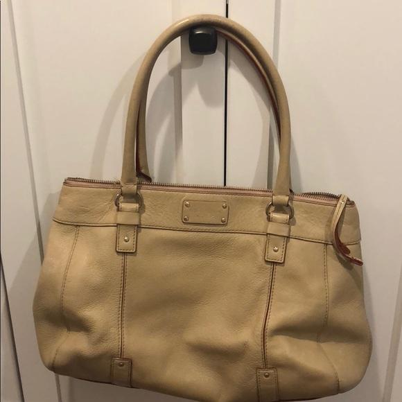 Kate Spade leather bag In Tan/dark cream leather